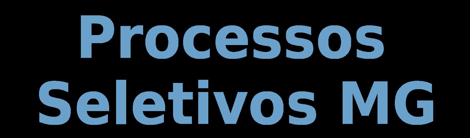 Processos Seletivos MG